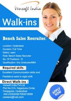 Bench Sales Recruiter/ US IT Sales Recruiter-Jobs-Legal Consulting & HR-Hyderabad