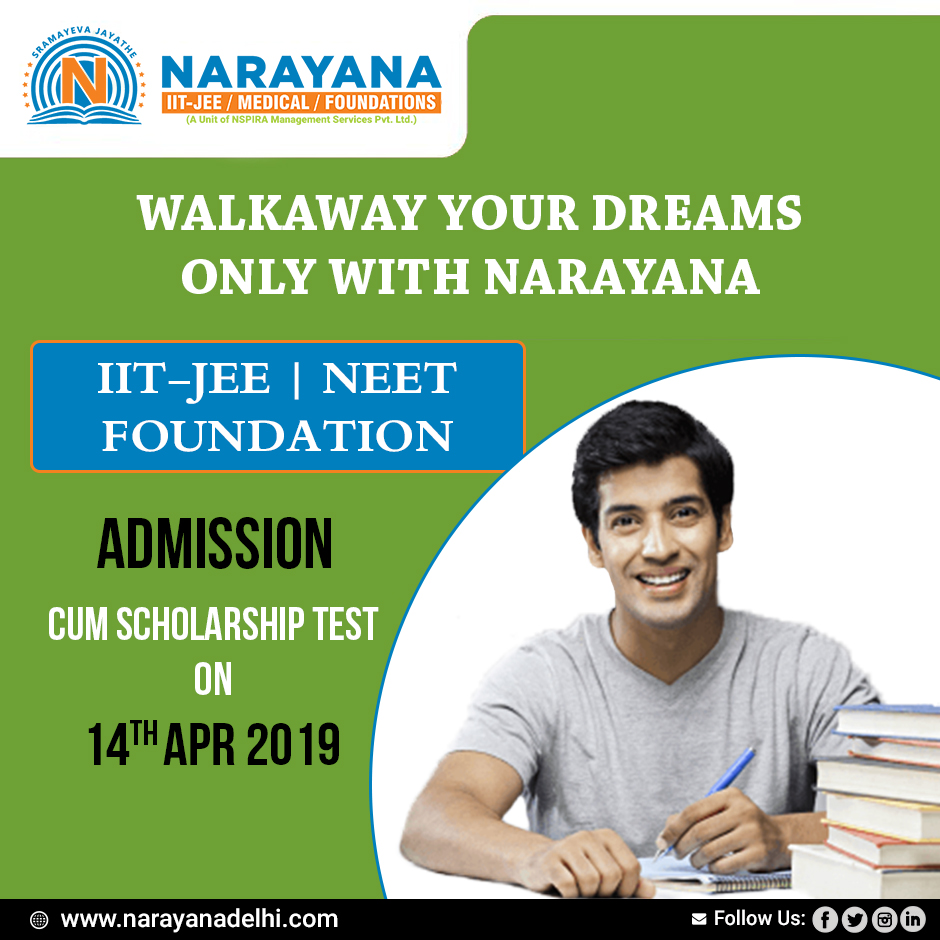 Give the scholarship cum admission test that decide urFuther-Classes-Other Classes-Delhi