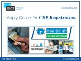 Hassle-Free CSP Registration at NICTCSP-Services-Insurance & Financial Services-Kolkata
