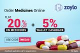 Get flat 20% of + Extra 5% cashback on medicine orders-Services-Health & Beauty Services-Health-Hyderabad