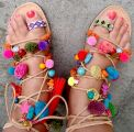 Ladies Designer Gladiator Pompom Leather Sandals Manufacture-Events-Other Events-Ahmedabad