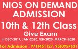 Solved assignment open schooling nios for 10th, 12th-Classes-Continuing Education-Gurgaon