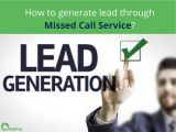 How to generate lead through Missed Call Service?-Services-Other Services-Vadodara